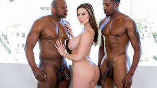 Kendra Lust cheating on her husband with two black hunks