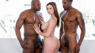 Ménage interracial com a madura peituda Kendra Lust