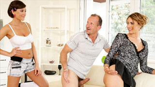 A busty Anna Rose has sex with Ani Black Fox, a MILF and her husband